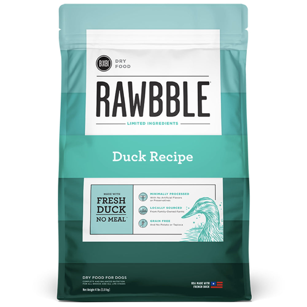 [PAWSOME] <b>15% OFF + FREE 128G FREEZE DRIED: </b> Bixbi RAWBBLE® Limited Ingredients Grain Free Duck Recipe Dry Dog Food