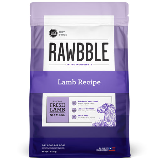 [PAWSOME] <b>15% OFF + FREE 128G FREEZE DRIED: </b> Bixbi RAWBBLE® Limited Ingredients Grain Free Lamb Recipe Dry Dog Food