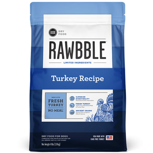 [PAWSOME] <b>15% OFF + FREE 128G FREEZE DRIED: </b> Bixbi RAWBBLE® Ancient Grain Turkey Recipe Dry Dog Food