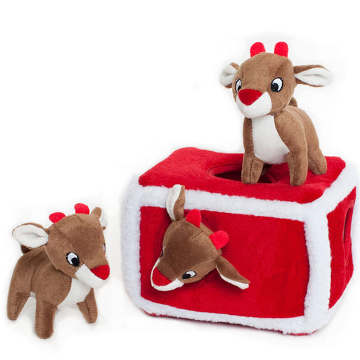ZippyPaws Holiday Zippy Burrow - Reindeer Pen