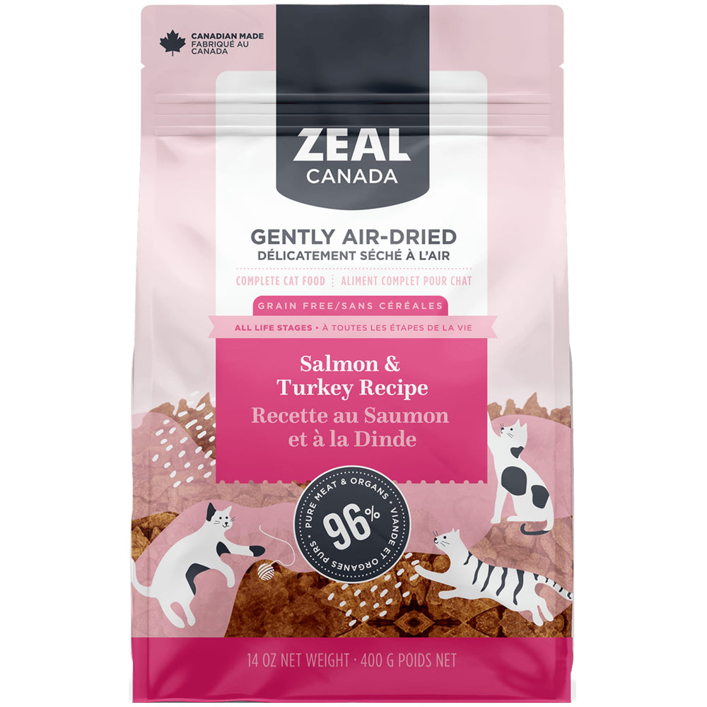 <b>15% OFF:</b> Zeal Gently Air Dried Salmon & Turkey Recipe Cat Food