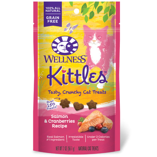<b>15% OFF:</b> Wellness Kittles™ Grain Free Crunchy Salmon & Cranberries Cat Treats