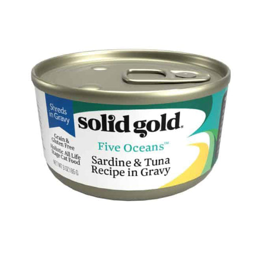 <b>10% OFF:</b> Solid Gold Grain Free Five Oceans With Sardines & Tuna in Gravy Wet Cat Food