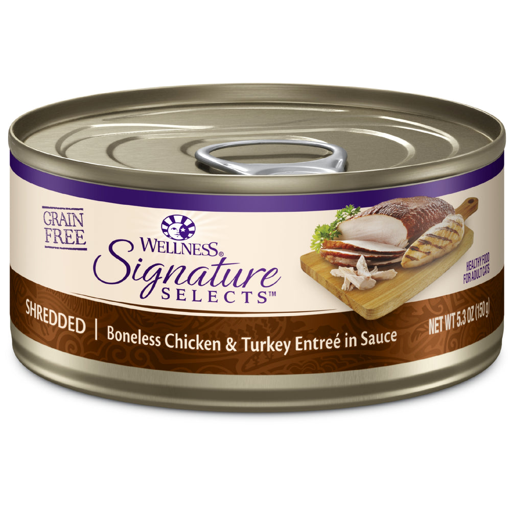 Wellness Signature Selects Grain Free Shredded Chicken & Turkey Wet Cat Food