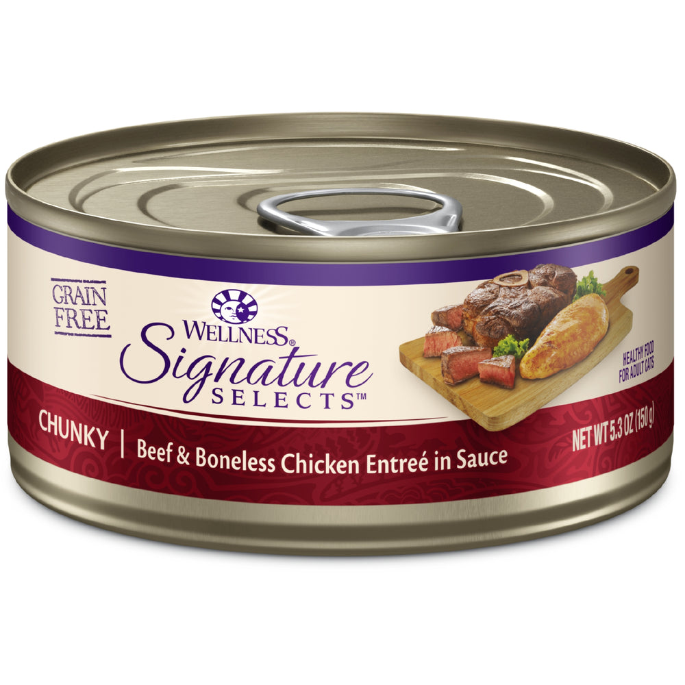 Wellness Signature Selects Grain Free Chunky Beef & Chicken Wet Cat Food
