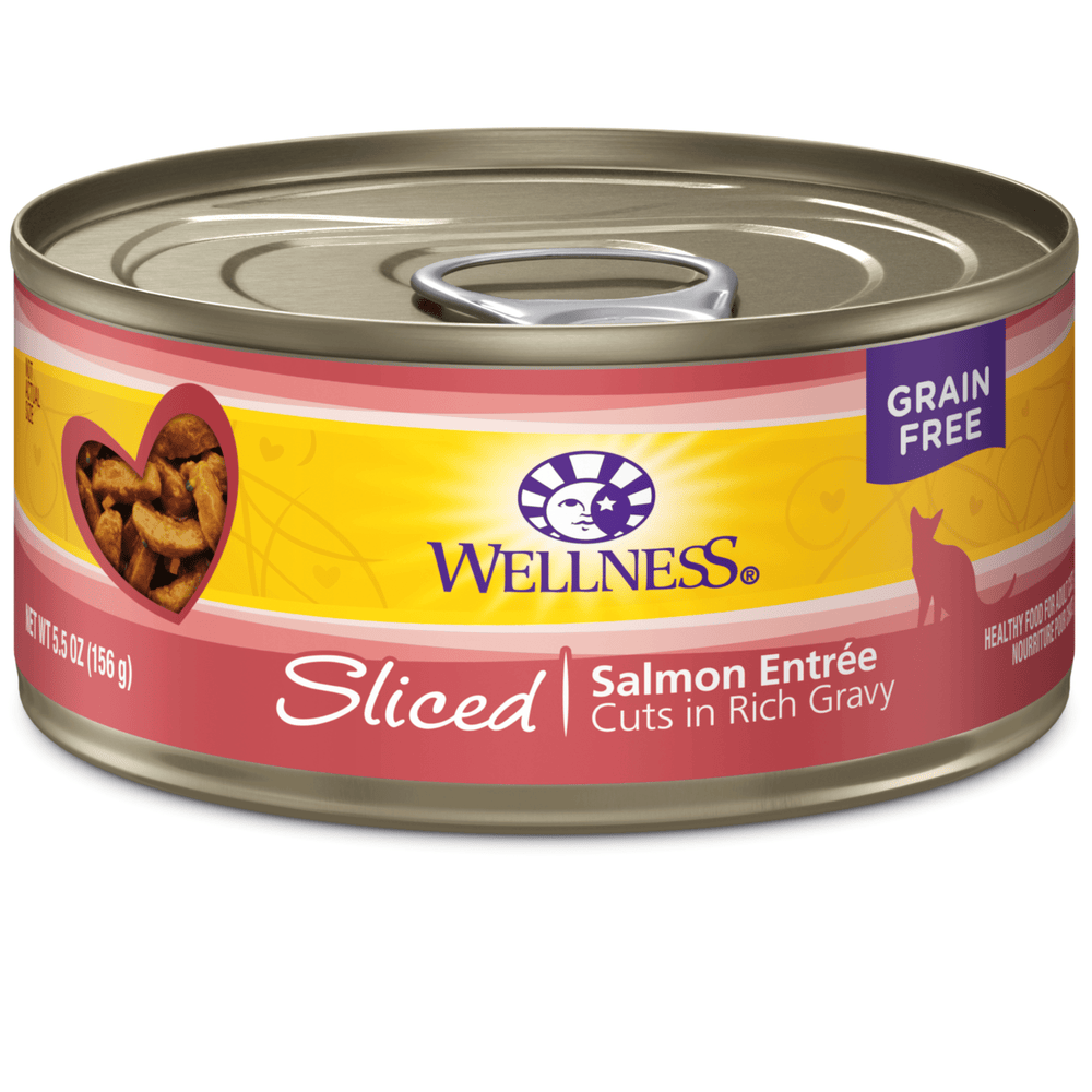 <b>15% OFF:</b> Wellness Complete Health Grain Free Sliced Salmon Entrée Wet Cat Food