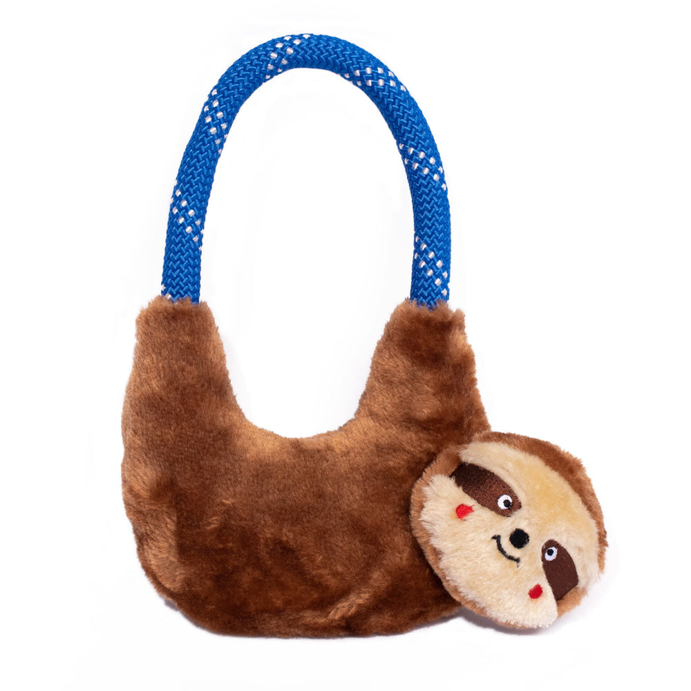 ZippyPaws RopeHangerz Sloth Toy