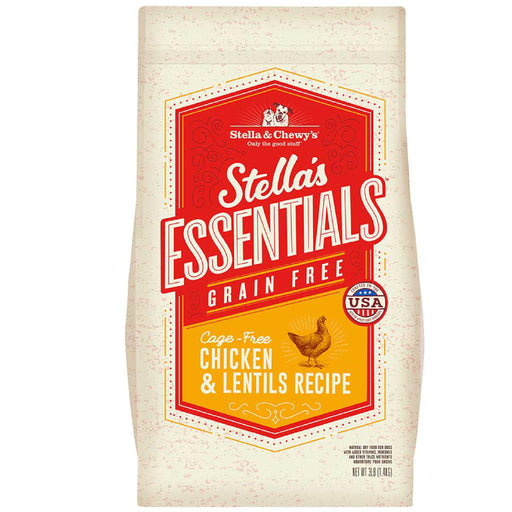 <b>15% OFF: </b> Stella & Chewy Stella's Essentials Grain-Free Cage-Free Chicken & Lentils Recipe Dry Dog Food