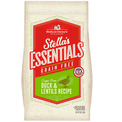 <b>15% OFF: </b> Stella & Chewy Stella's Essentials Grain-Free Cage-Free Duck & Lentils Recipe Dry Dog Food