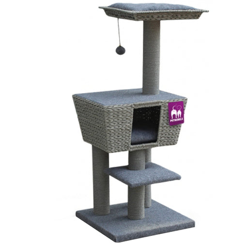 <b>15% OFF:</b> PetRebels Carribbean Sun 114 Grey Cat Tree
