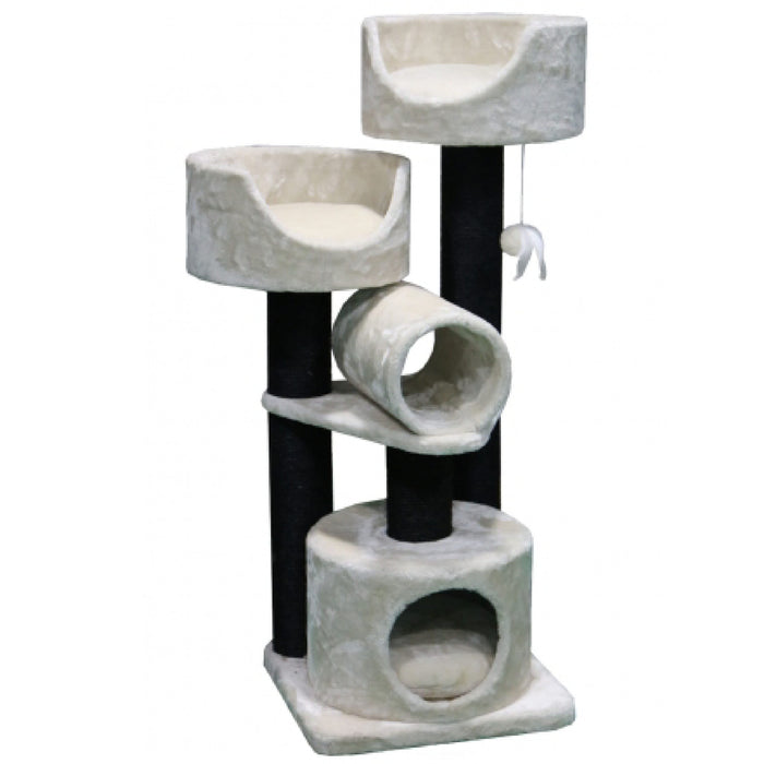 <b>15% OFF:</b> PetRebels Cabin 125 Fuzzy Cream Cat Tree