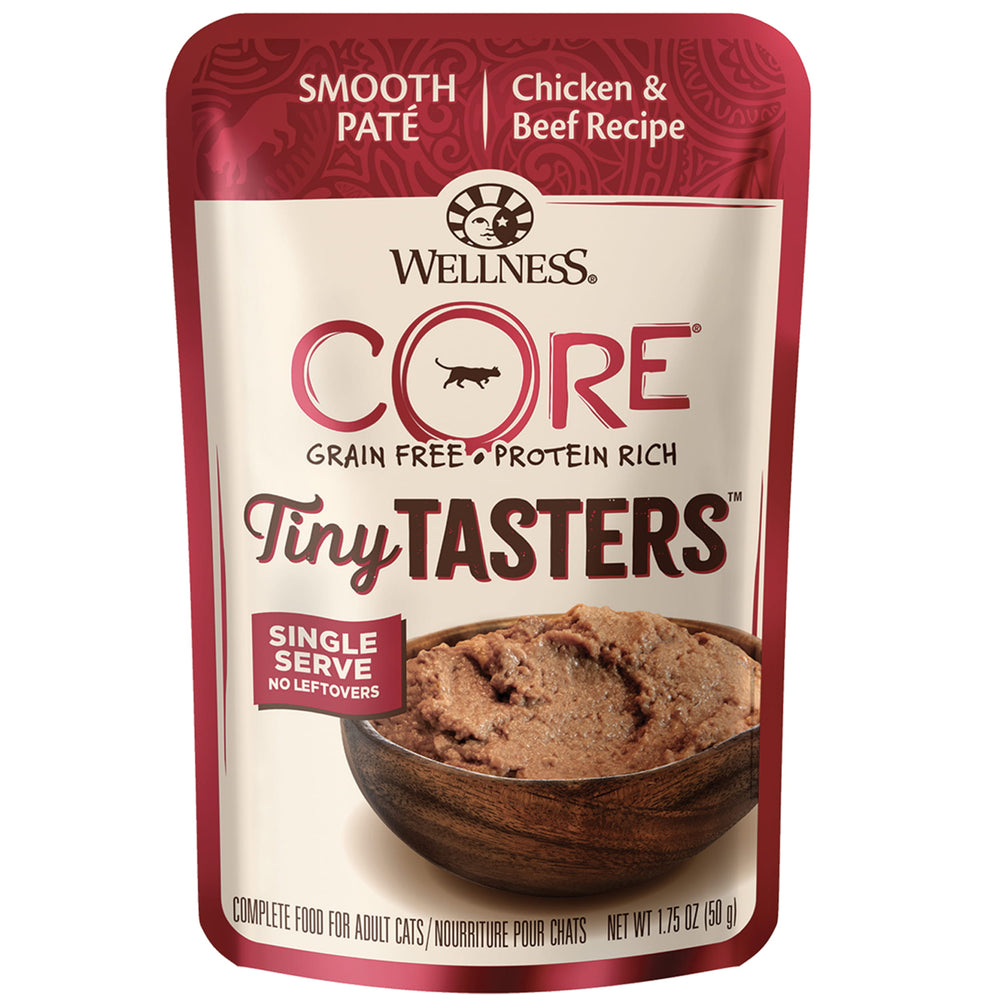 <b>15% OFF:</b> Wellness CORE® Tiny Tasters™ Chicken & Beef Wet Cat Food