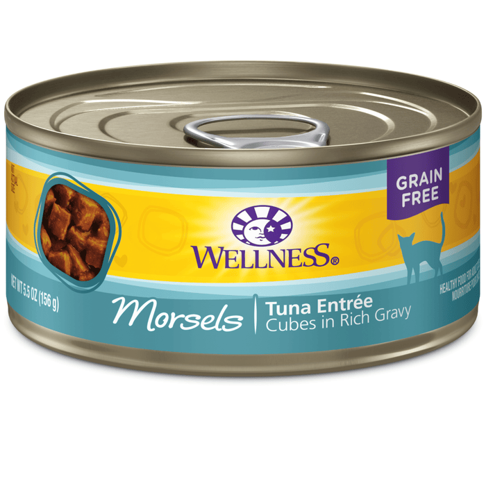 <b>15% OFF:</b> Wellness Complete Health Grain Free Morsels Tuna Entrée Wet Cat Food