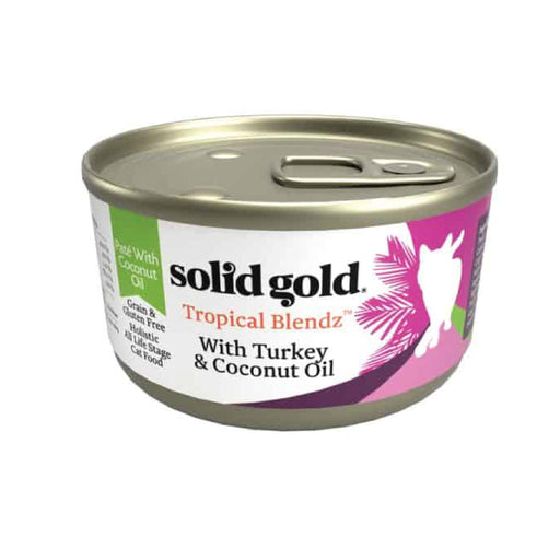 <b>10% OFF:</b> Solid Gold Grain Free Tropical Blendz With Turkey & Coconut Oil Wet Cat Food