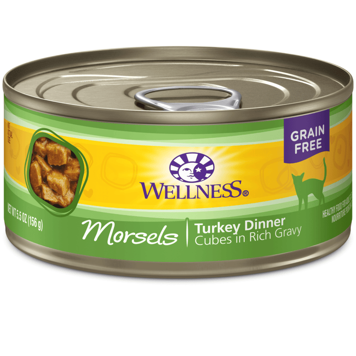 <b>15% OFF:</b> Wellness Complete Health Grain Free Morsels Turkey Entrée Wet Cat Food