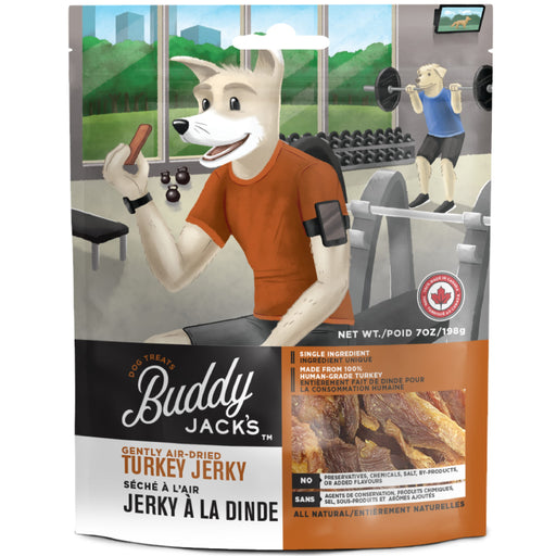 <b>15% OFF:</b> Canadian Jerky Buddy Jack's Gently Air Dried Turkey Jerky Treats For Dogs
