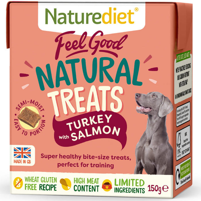 NatureDiet Feel Good Turkey With Salmon Natural Dog Treats