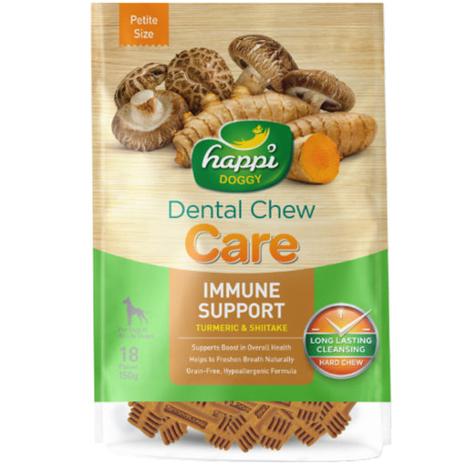 <b>15% OFF:</b> Happi Doggy Immune Support Turmeric & Shiitake Dental Chews