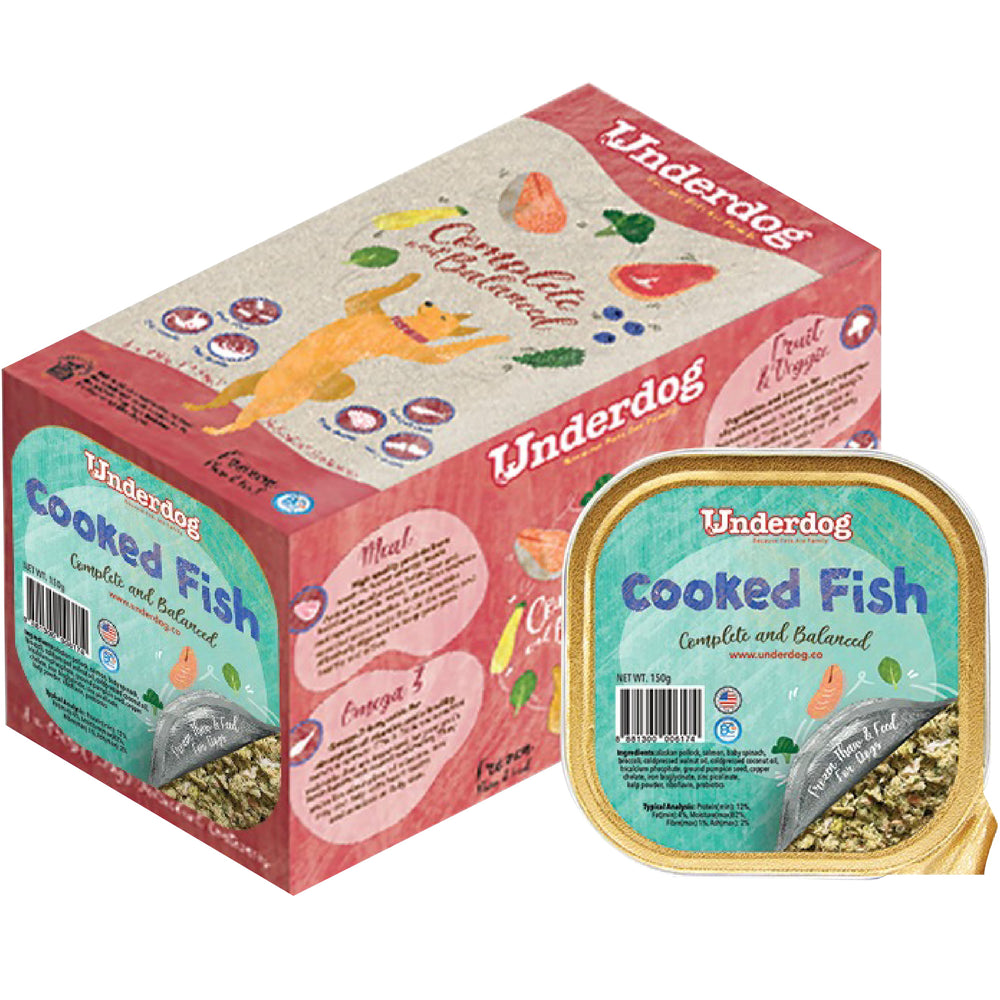 Underdog Complete & Balanced Cooked Fish Recipe For Dogs (<b>FROZEN</b>)