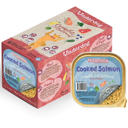 <b>FREE TREATS:</b> Underdog Cooked Salmon Frozen Dog Food