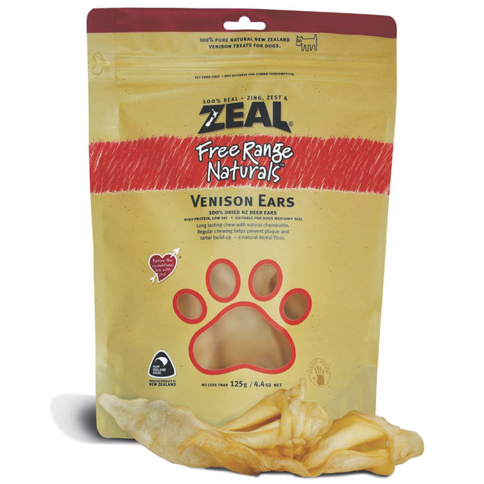 Zeal Free Range Naturals NZ Venison Ears For Dogs