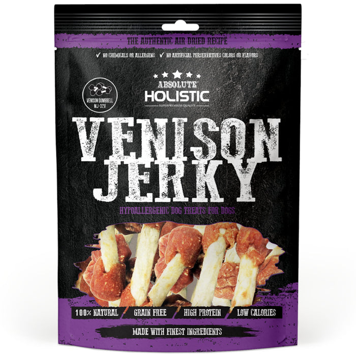 Absolute Holistic Venison Dumbbell Jerky Dog Treats
