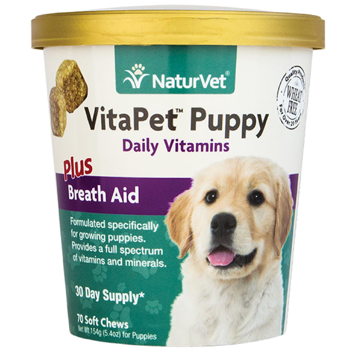 <b>20% OFF:</b> NaturVet VitaPet Puppy™ Plus Breath Aid Soft Chew Cup