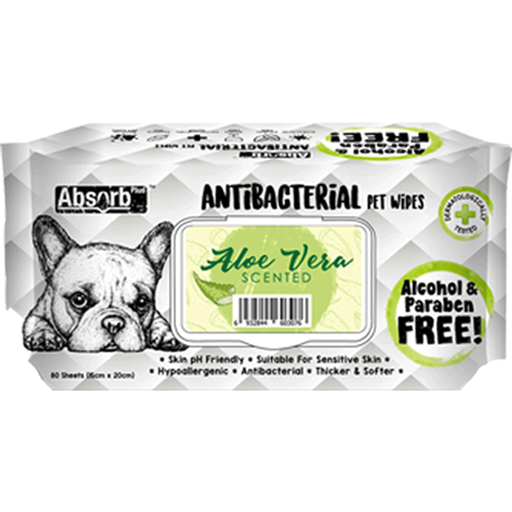 <b>BUY 1 FREE 1: </b> Absolute Absorb Plus Aloe Vera Scented Anti Bacteria Pet Wipes