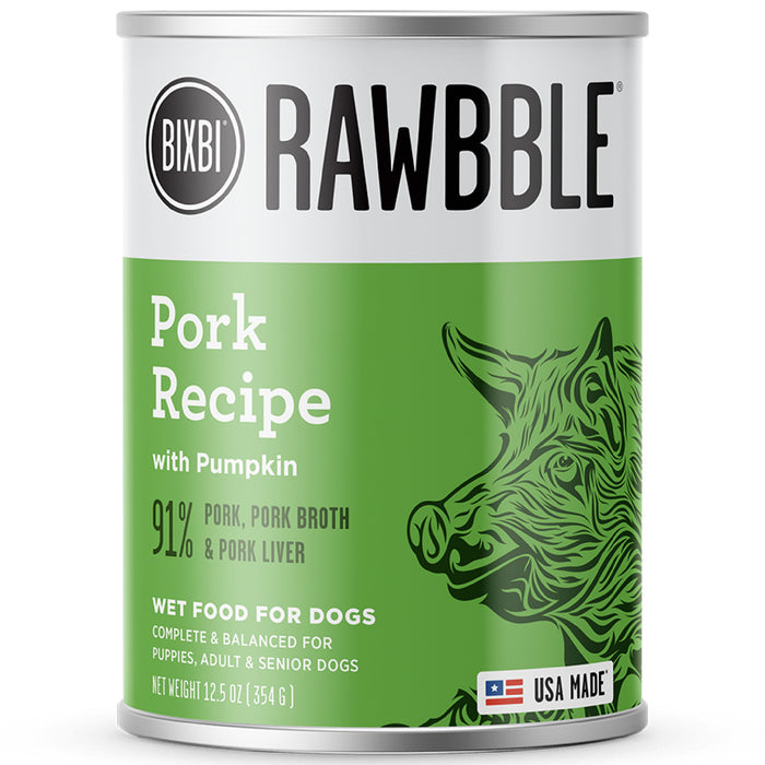 Bixbi RAWBBLE® Grain Free Pork Recipe Wet Dog Food