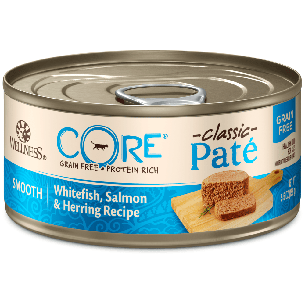 <b>15% OFF:</b> Wellness CORE Grain Free Pâté Whitefish, Salmon & Herring Recipe Wet Cat Food