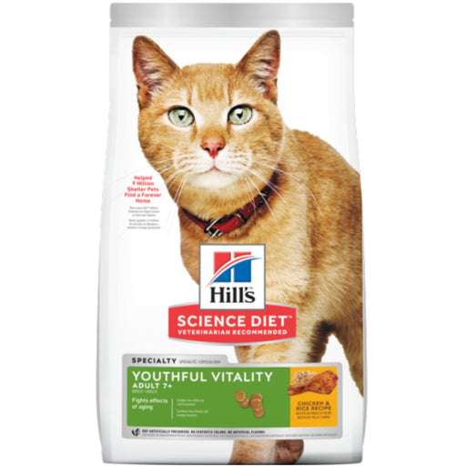 <b>20% OFF: </b> Hill's® Science Diet® Youthful Vitality Adult 7+ Chicken & Rice Recipe Dry Cat Food