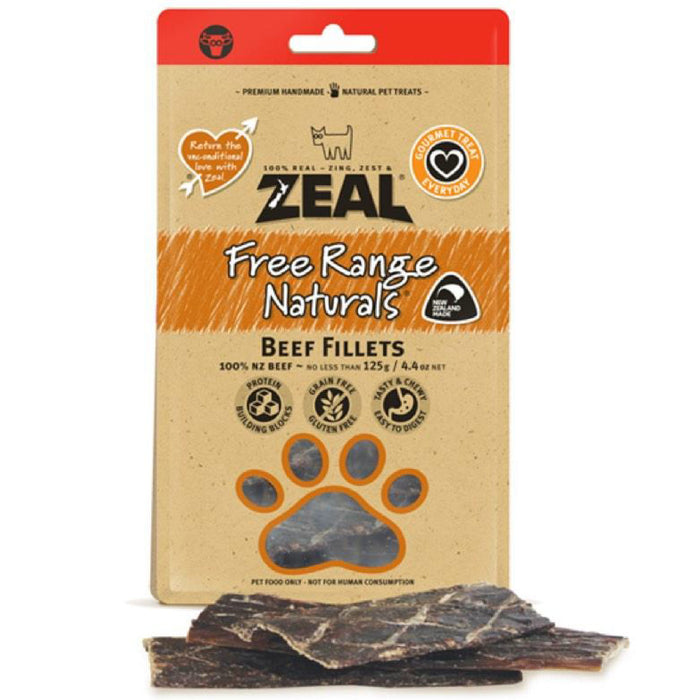 Zeal Free Range Naturals NZ Beef Fillets For Dogs