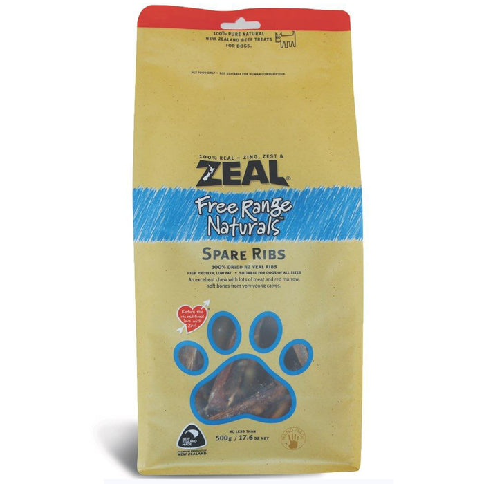 Zeal Free Range Naturals Spare Ribs For Dogs
