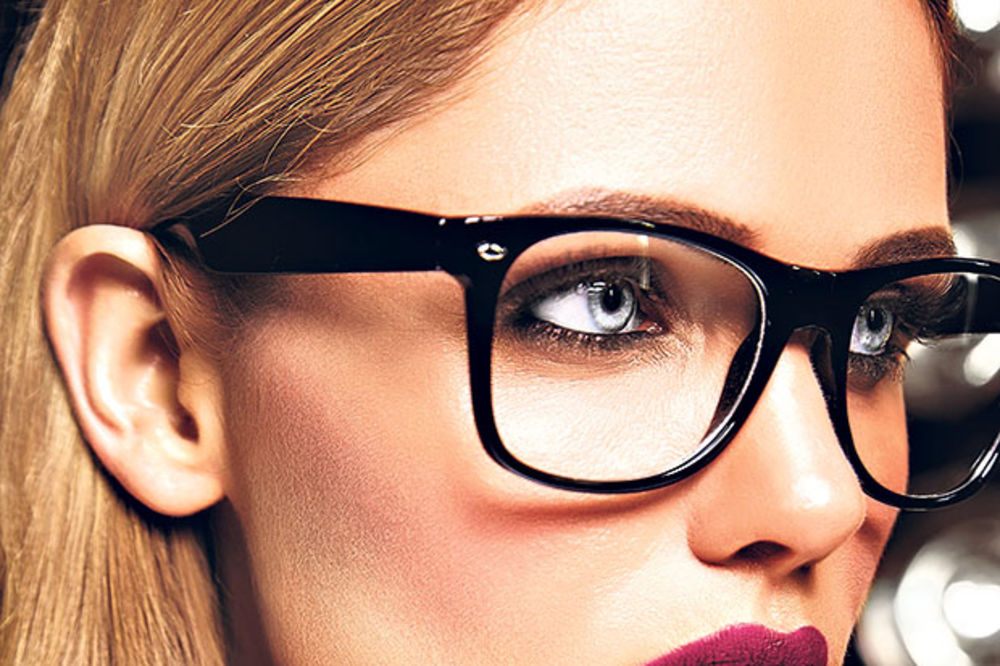 Makeup for women with glasses