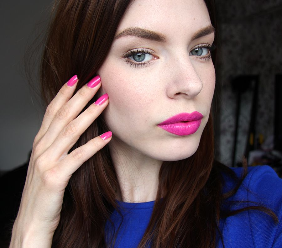 All the makeup combinations with the hot pink lipstick
