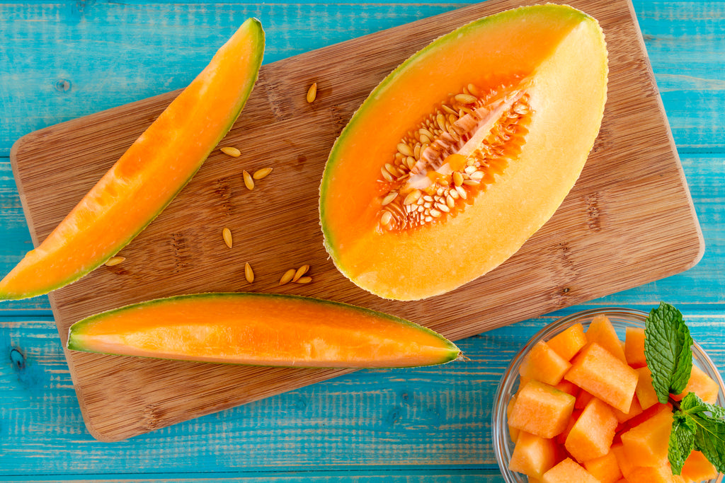 Beautify the skin with melon