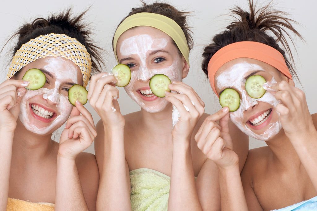 Natural face care with different kinds of cheese