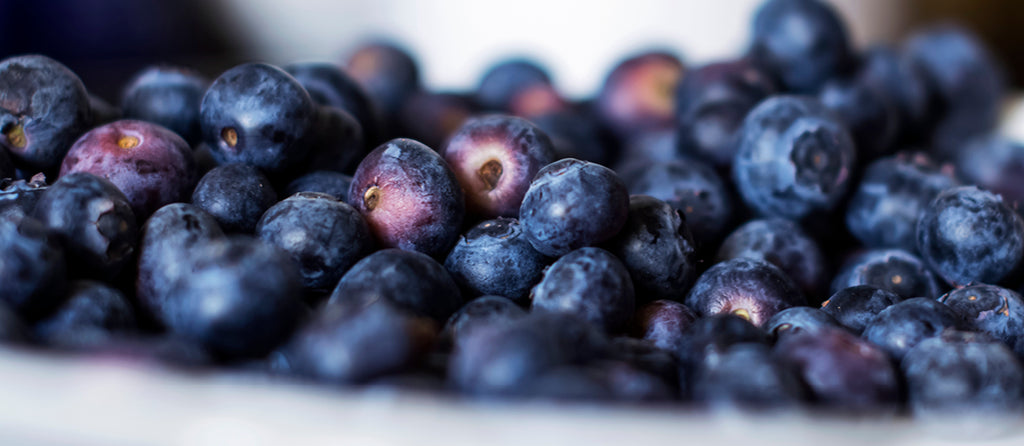 Why are the blueberries beneficial for the skin?