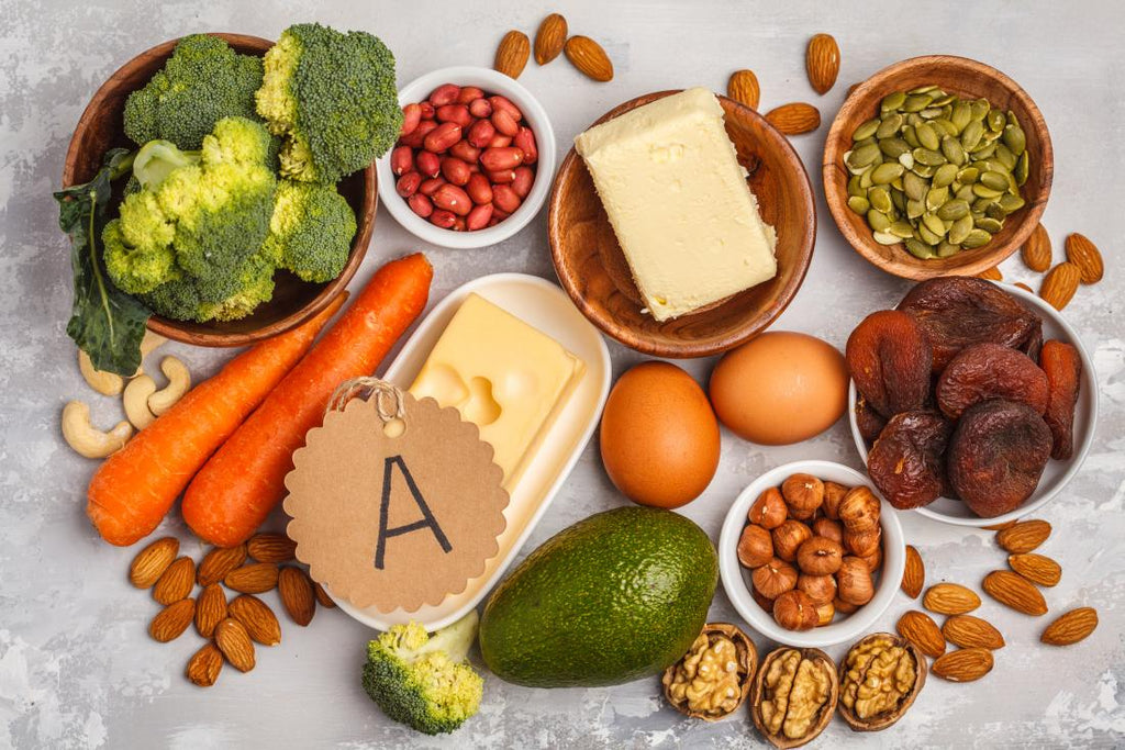 Why  is the vitamin A beneficial for the skin?