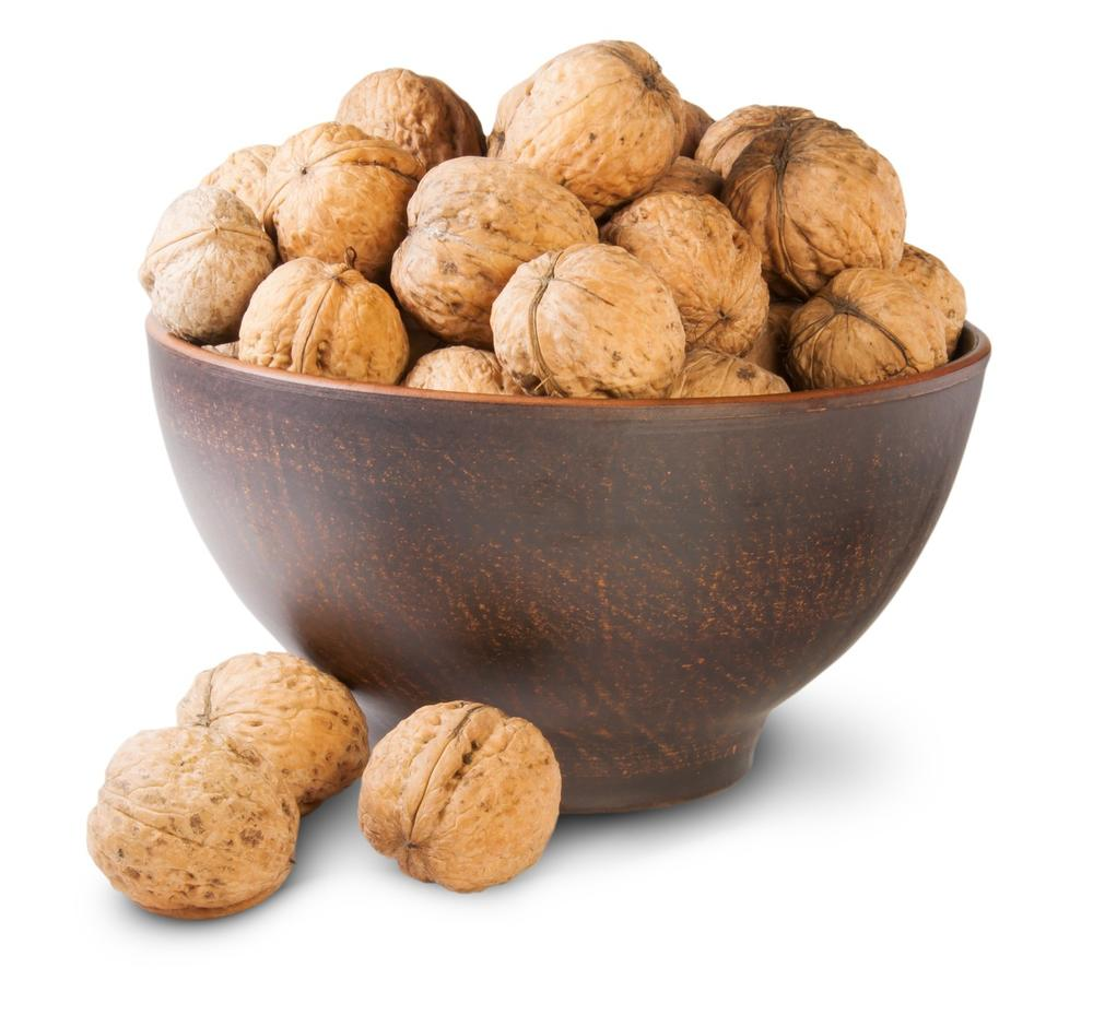 Why are the walnuts beneficial for the skin?