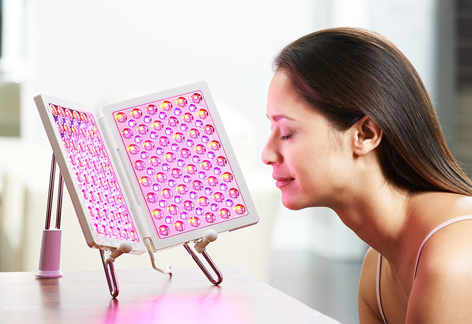 LED light-therapy for acne and pimples