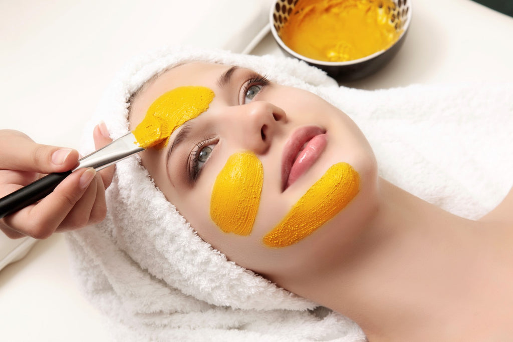 Few homemade turmeric masks