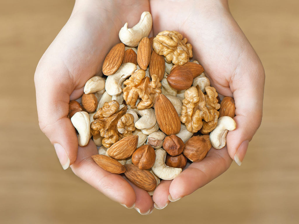 Go ahead and take a handful of nuts for natural skin glow...
