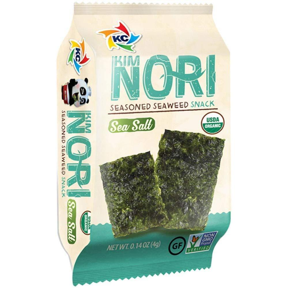 Kimnori Seaweed Snack Sea Salt 12ct Box - Tasty Treat