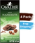 Cavalier Chocolate Reduced Sugar with Stevia Milk Chocolate Hazelnut (4 Bar Pack)