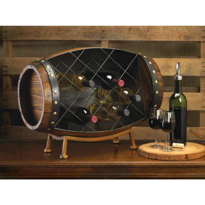 3D Grapes Painted Wine Barrel Head