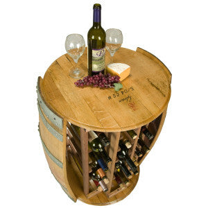 28 Bottle Round Wine Rack - Donachelli's Cellars