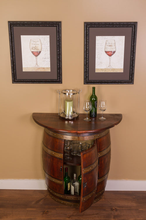 Half Barrel Wall Cabinet