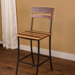 Iron Wine Barrel Stool