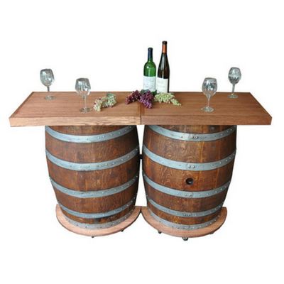 Wine Barrel Portable Folding Bar - Donachelli's Cellars